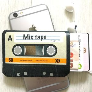 Colour Mix Tape Cassette Card Holder