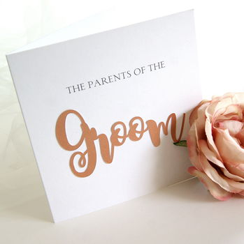 Parents Of The Groom Luxe Card