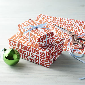 Personalised Name Wrapping Paper - cards & wrap