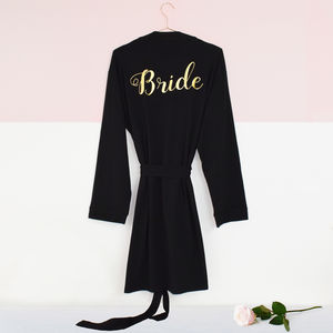 Personalised 'Bridal Party' Wedding Dressing Gown - one week to go