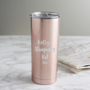 Personalised Cheeky Slogan Travel Cup