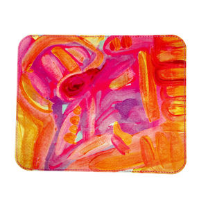'Pink Summer Solstice' Leather Mouse Mat - summer sale
