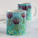 Hand Drawn Thistle Mug