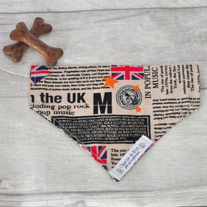 Union Jack Dog Bandana For Girl Or Boy Dogs - dogs