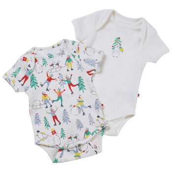 Baby's First Christmas Baby Bodysuits Two Pack