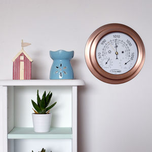 Personalised Metallic Weather Dial - living room