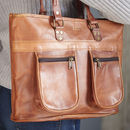 Personalised Leather Shoulder Bag