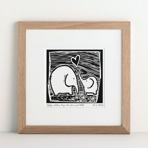 Personalised Elephant Print - gifts from younger children