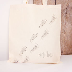 'Baby Steps' Tote Bag Walking Feet