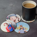 Photo Coasters Set Of Four Circle