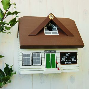 Father's Day Personalised Cricket Pavilion Bird Box
