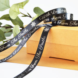 Christmas 15mm Personalised Printed Ribbon