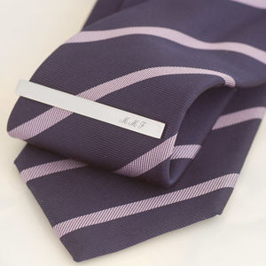 Personalised Tie Clip - tie pins & clips