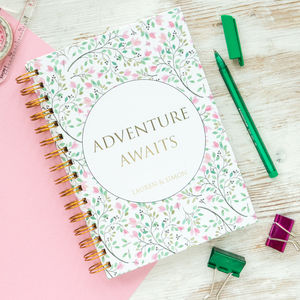 Personalised 'Adventure Awaits' Notebook - notebooks & journals