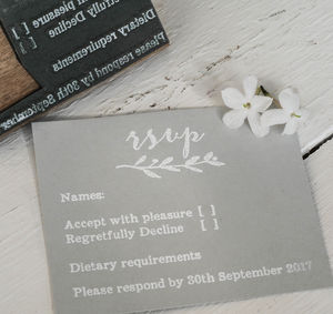 RSVP Stamp With Natural Sprig - what's new