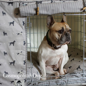 Custom Made Dog Crate Cover Available In Six Fabrics - dogs