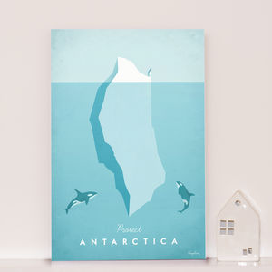 'Protect Antarctica' Travel Poster - posters & prints