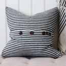 White And Grey Striped Cushion