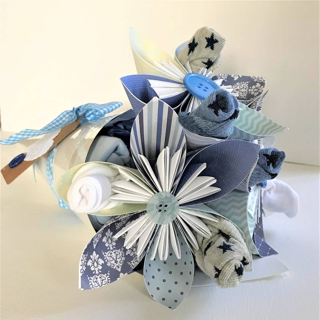 New baby flower bouquet by cot2tot beyond notonthehighstreet new baby flower bouquet izmirmasajfo