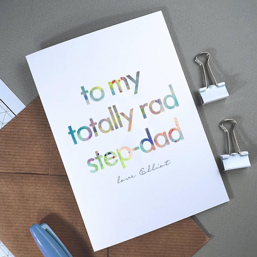 Step Dad Fathers Day Cards