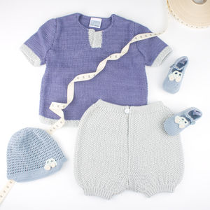 Handmade Bamboo Boys Top And Shorts Set