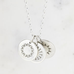 Personalised Sterling Silver Family Initials Necklace - necklaces & pendants