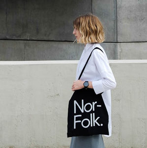 'Norfolk' Tote Bag Black - mens