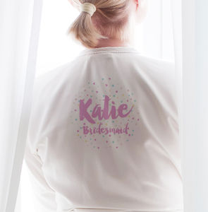 Personalised Confetti Bridesmaid Robe / Dressing Gown - new in home