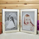 Personalised Twin Photo Frame Silver