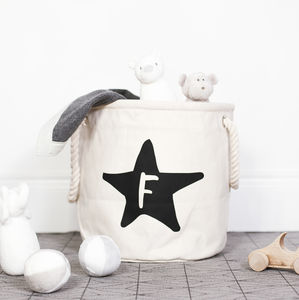 Personalised Star Nursery Basket - toy boxes & chests