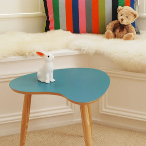 Coloured Petal Shape Table - side tables
