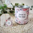 'Sixtea' Personalised 60th Birthday Tea Gift Set