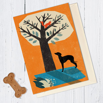 Whippet/Lurcher Dog Card