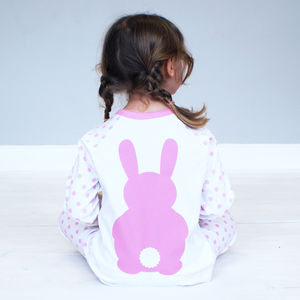 Personalised Bunny Rabbit Pyjamas For Children - winter sale