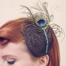 Peacock Crystal Fascinator