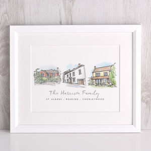 Story Of My Houses Watercolour Illustration