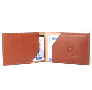 Personalised Slim Leather Card Holder Case - wallets