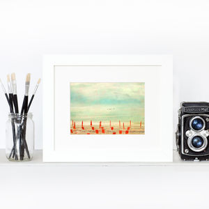 Amalfi Orange Fine Art Home Print - nature & landscape