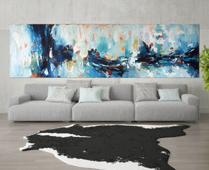 Large Original Abstract Acrylic Canvas Painting - modern & abstract