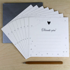 Thank You Card Pack Of Eight - shop by category