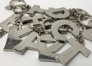 Personalised Alphabet Keyring