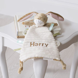 Personalised Guess How Much Nutbrown Hare Comforter - sleeping