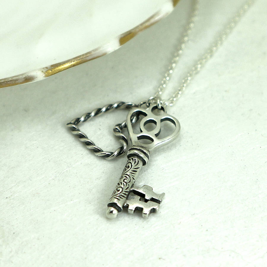 Key To My Heart Sterling Silver Necklace