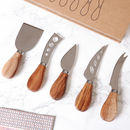 Set Of Five Cheese Tools And Gift Box