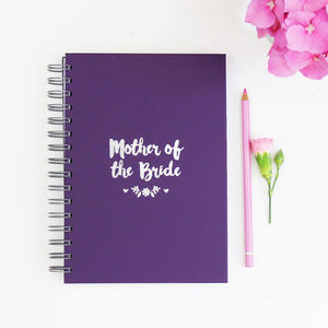 Mother Of The Bride Or Groom Foiled Notebook - notebooks & journals