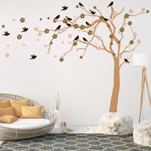 Summer Blossom Tree Wall Stickers - dining room