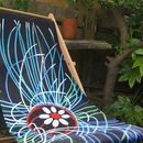 Art Print Deckchair Ultraviolet Jellyfish
