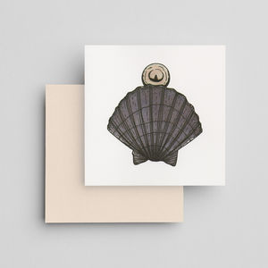 Hand Painted Pearl Shell Card - what's new