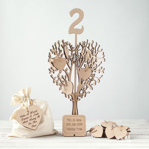 Table Number Wishing Tree Guest Book