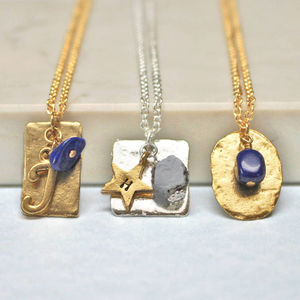 Personalised September Birthstone Necklace - necklaces & pendants